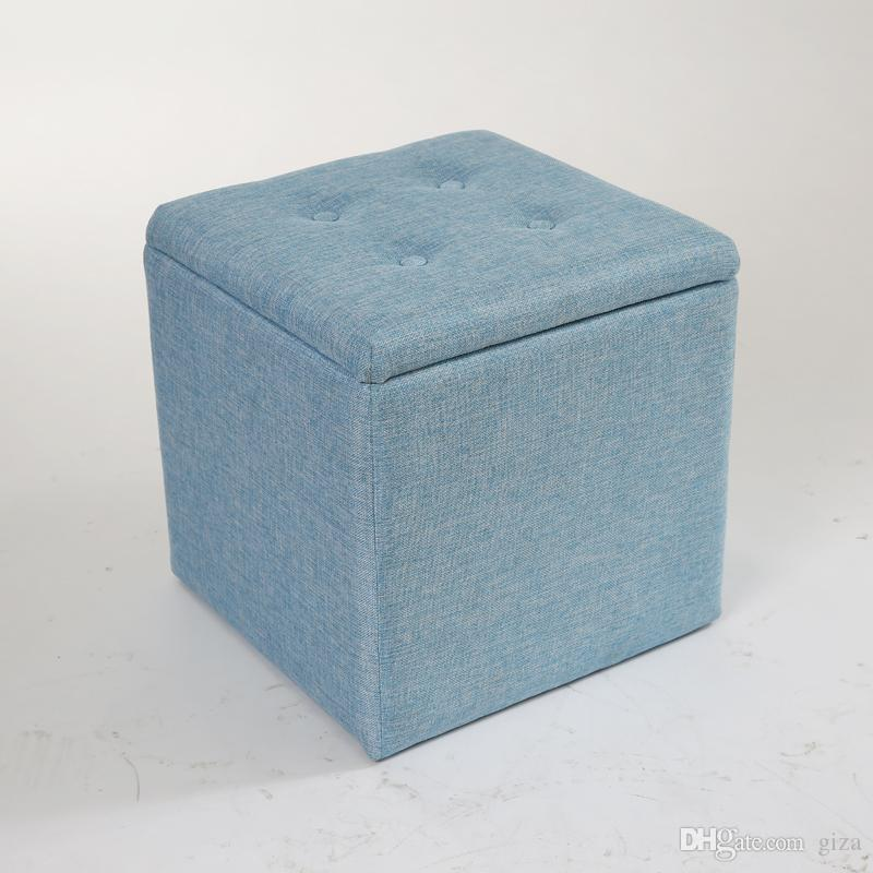 storage stool folding stool safety small people can sit toy box storage box sofa stool changing his shoes