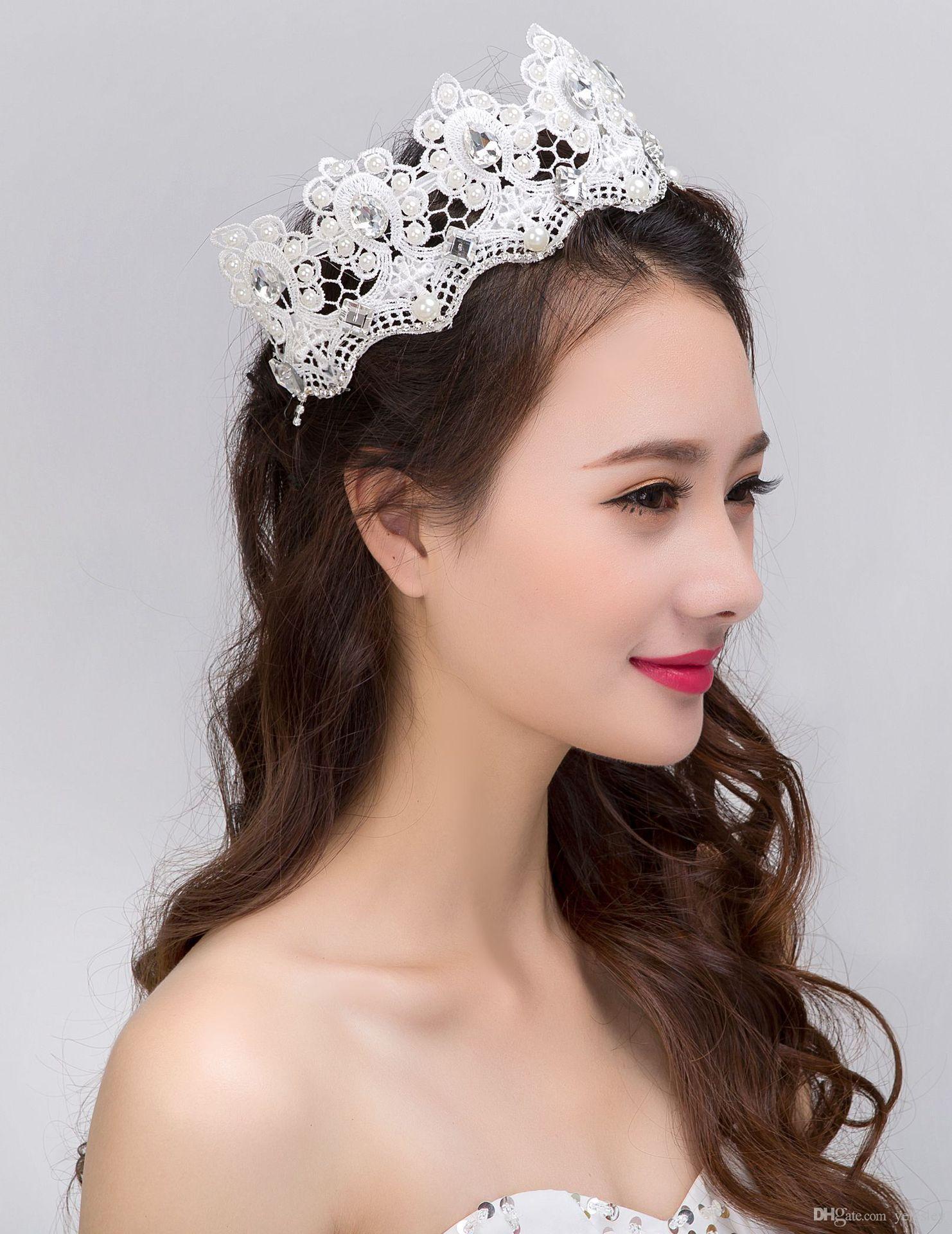 Wedding hair jewelry Royal Crowns Shiny Crystals Real Sample Bridal Wedding Tiara Tiaras Hair Accessories 2016 head pieces Tiara Crystals