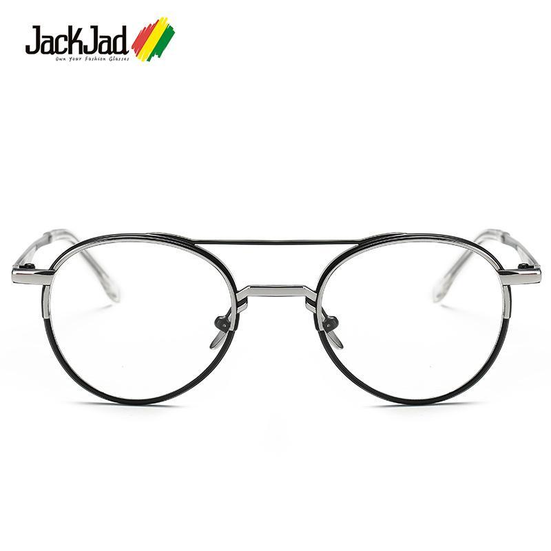 69916310da Wholesale- JackJad New Fashion Vintage Round Metal Double Color ...