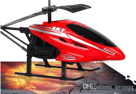 2017 HX713 Mini RC Helicopter Radio Remote Control Aircraft 3D 2.5 Channel Drone Copter With Gyro Lights for kids gift B669