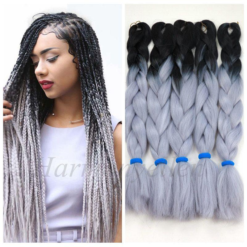 Stock Two Tone Color Synthetic Yaki Braiding Hair 2 Tone