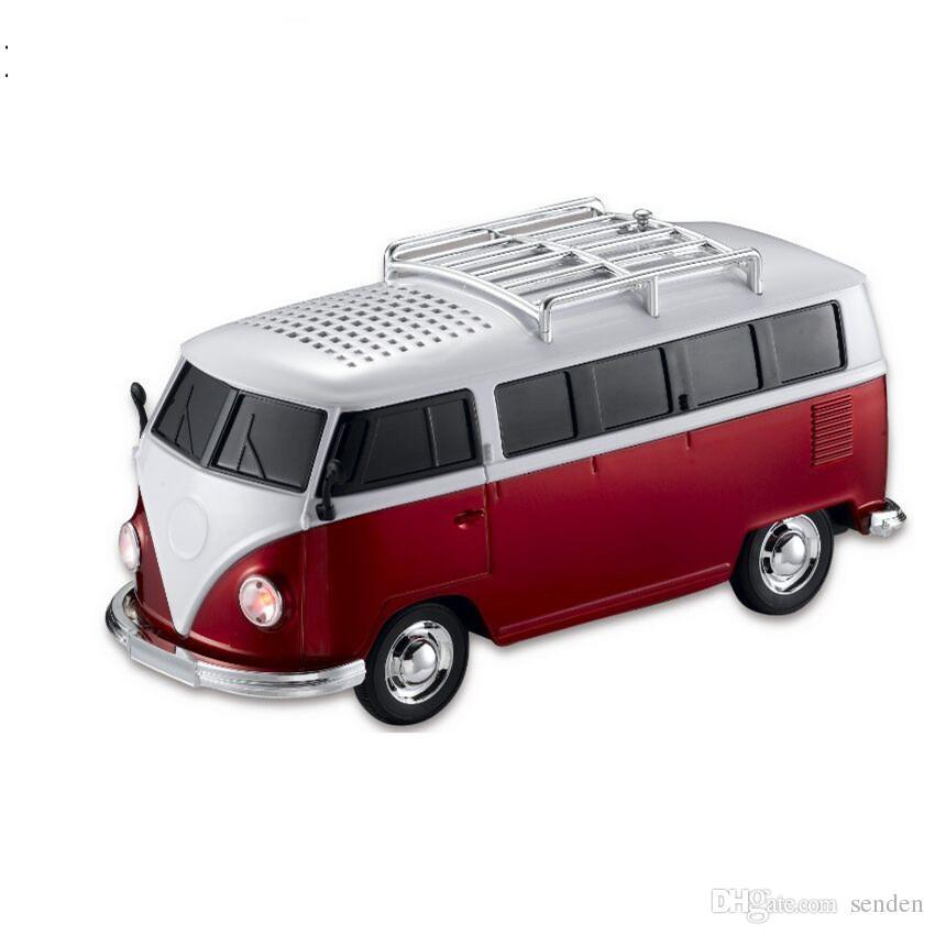 NUEVO Autobús WS-266BT Colorido Bluetooth Mini altavoz en forma de automóvil Mini Caja de sonido de altavoz de dibujos animados de autobús inalámbrico MP3 + U DISK + TF + FM FUNCIÓN + BLUETOOTH