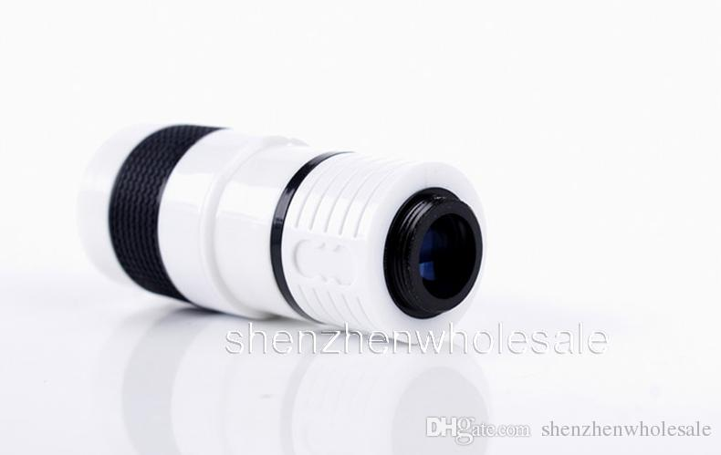 mobile phone universal telescope 8X zoom lens black color for Smart Phone Cell Phone samsung smart phones