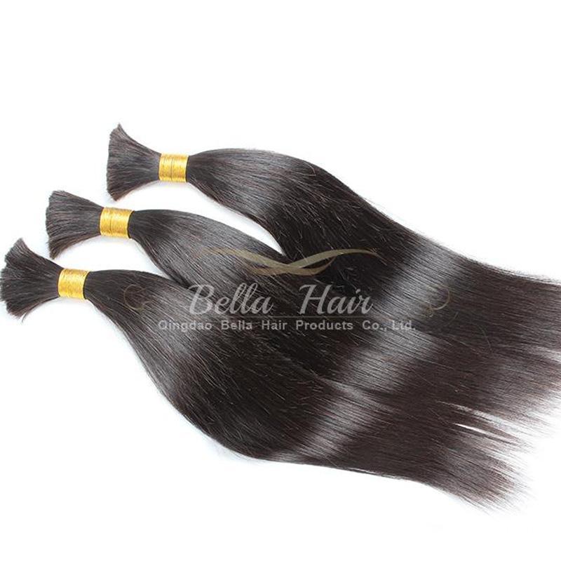 100% capelli umani tesse i capelli acconciature estensioni malesi dei capelli umani diritto diritto superiore di alta qualità 8A trasporto di goccia di Bellahair