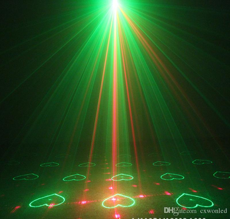 Laser Projector Stage Light Sounds Sense Suny RG 3 Lens 40 Patterns Red and Green Disco DJ Party Laser Lights with Remote