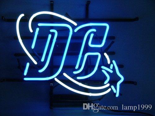 Dc Comics 75th Anniversary Glass Neon Sign Beer Light Dc NEON LIGHT ...