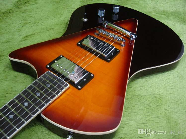 Custom Ernie Ball Music Man Armada Divided Sunburst 2014 Electric Guitar  V-shaped bookmatched Flame Maple top, Schaller locking Tuners