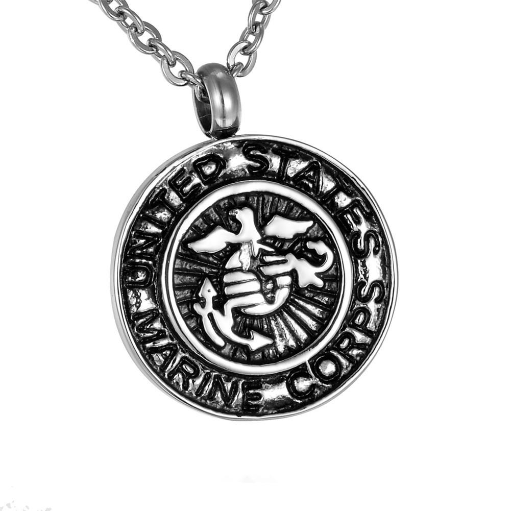 marine corps jewelry wholesale urn necklaces cremation jewelry black 787