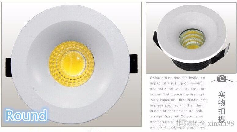 venta caliente Súper LED empotrado micro miniatura pequeña ajustable Mini 5W LED Downlight COB regularse hasta Cálida luz blanca fría del AC85-265V