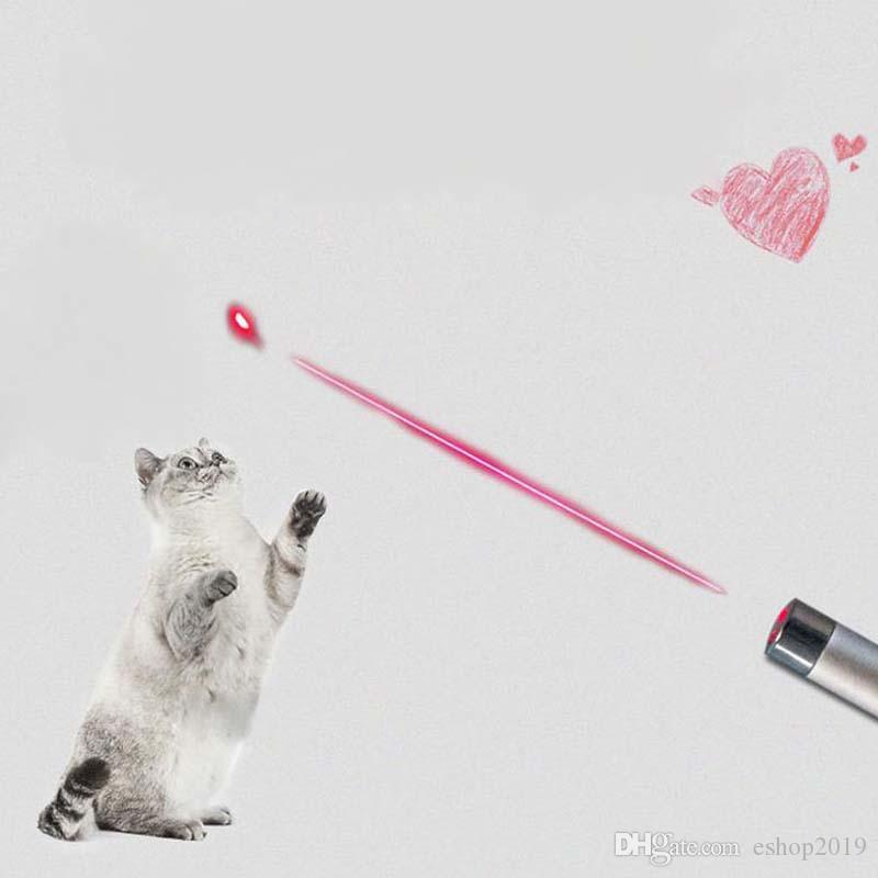 Красный лазерная указка ручка брелок со светодиодной подсветкой показать портативный инфракрасный Stick Смешные кошки игрушки для домашних животных Оптовая