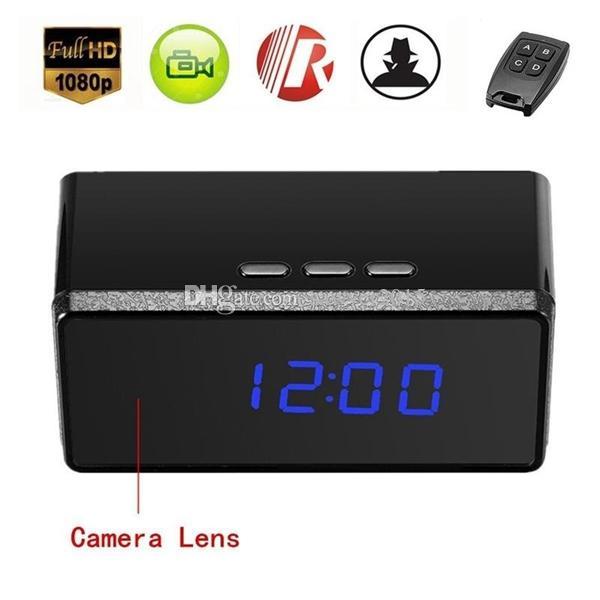 Удаленный contorl будильник мини-камера HD 1080P ИК ночного видения часы MINI DV DVR камеры домашней безопасности камеры видеонаблюдения