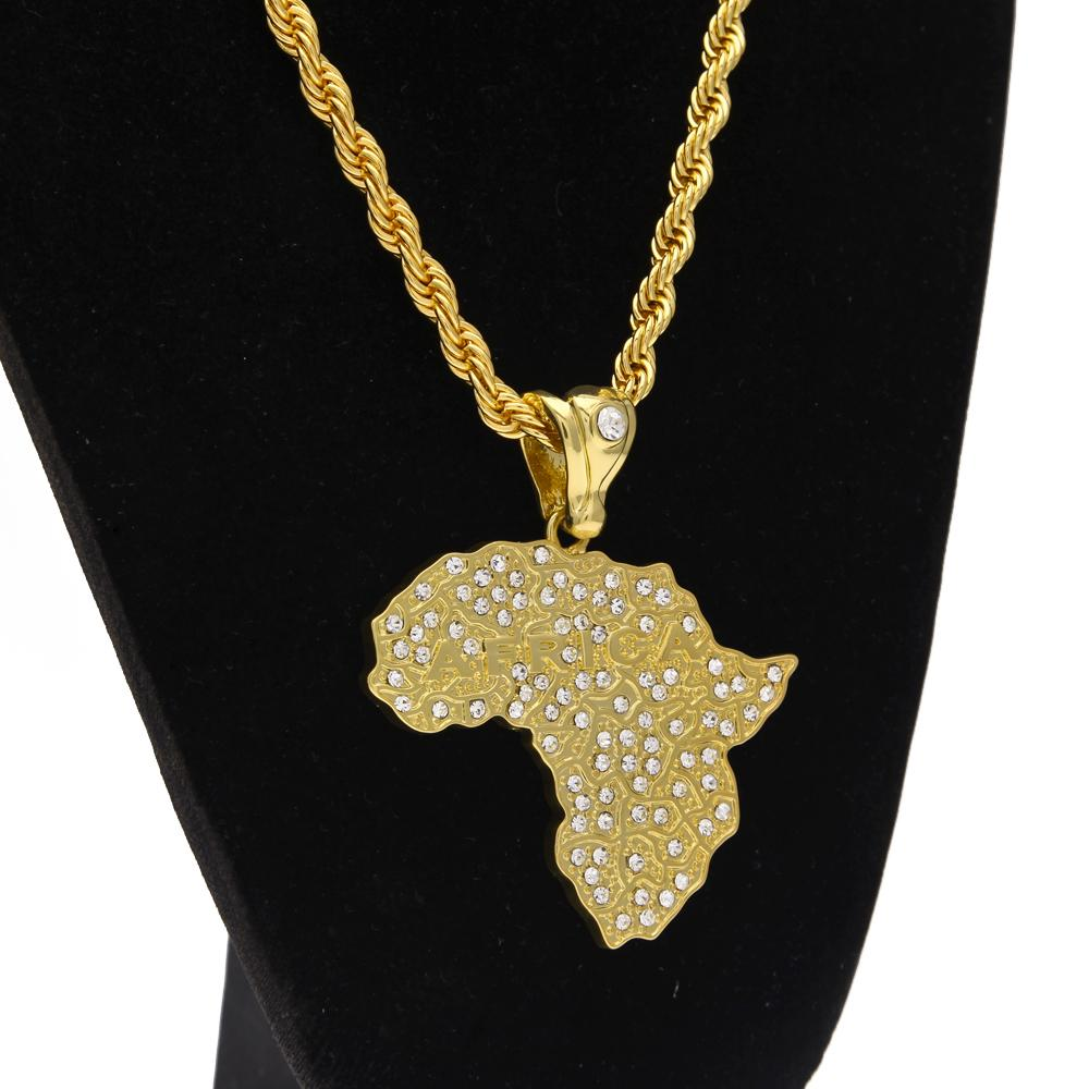 Wholesale Womens Mens Africa Map Pendant Necklace Gold Plated Full CZ Iced  Out Bling Bling Jewelry Hip Hop HIGH QUALITY Vermeil Hip Hop Jewelry Heart  ... 8c8751120c08