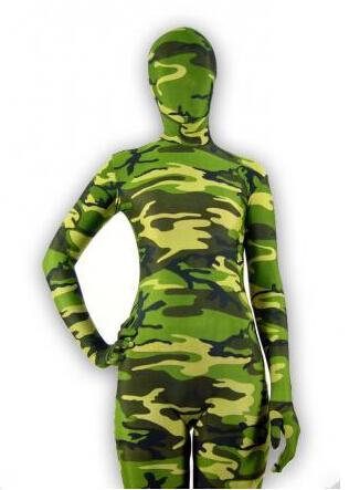 41f65dd2487 Green Camouflage Patterns Animals Lycra Spandex Zentai Halloween Party  Costume Catsuit   Back Zipper Costumes Online with  32.79 Piece on  Factoryhandbag s ...