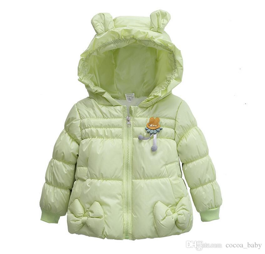 605fb40e3 Baby Girls Clothes Winter Spring Baby Outerwear Infant Bowknot Coat ...