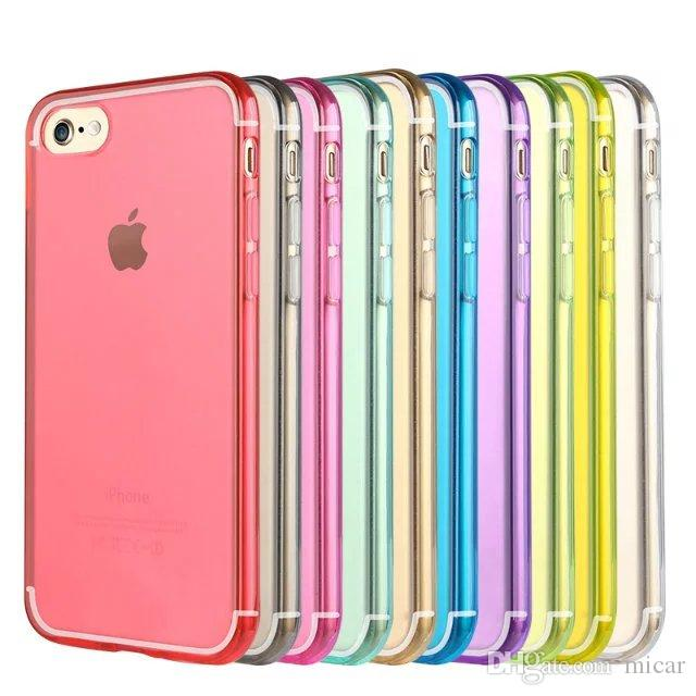huge selection of 165f9 1e1d2 Cell Phone Candy Cases For iPhone 7 Iphone7 I7 7G 7gen 7th Ultra Thin Clear  Crystal Transparent Soft TPU Silicone Gel Back Cover