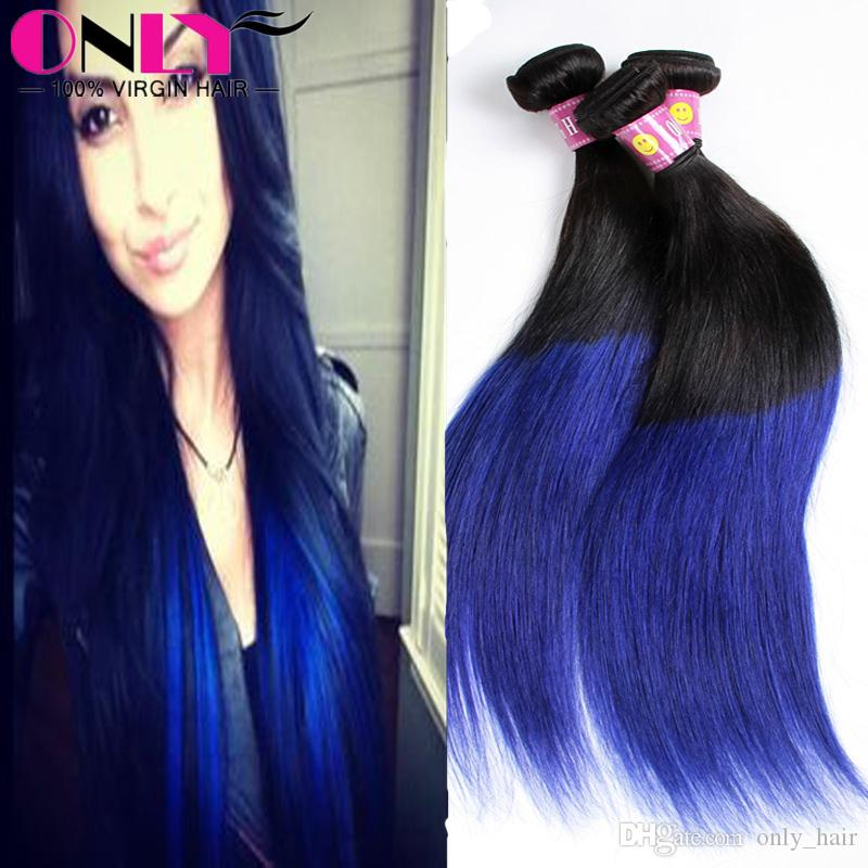 Cheap ombre straight 1b blue brazilian human hair bundle malaysian cheap ombre straight 1b blue brazilian human hair bundle malaysian human virgin remy blue hair extensions silky straight blue hair curly remy hair weave pmusecretfo Gallery
