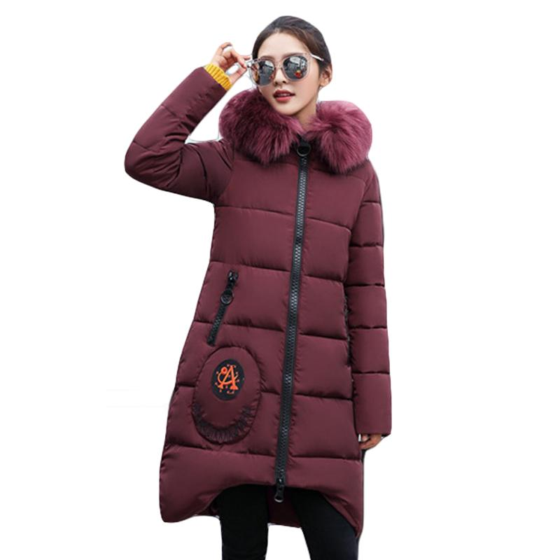 1c523fd796c High Quality Large Fur Collar Hooded Women Winter Jacket Snow Wear ...