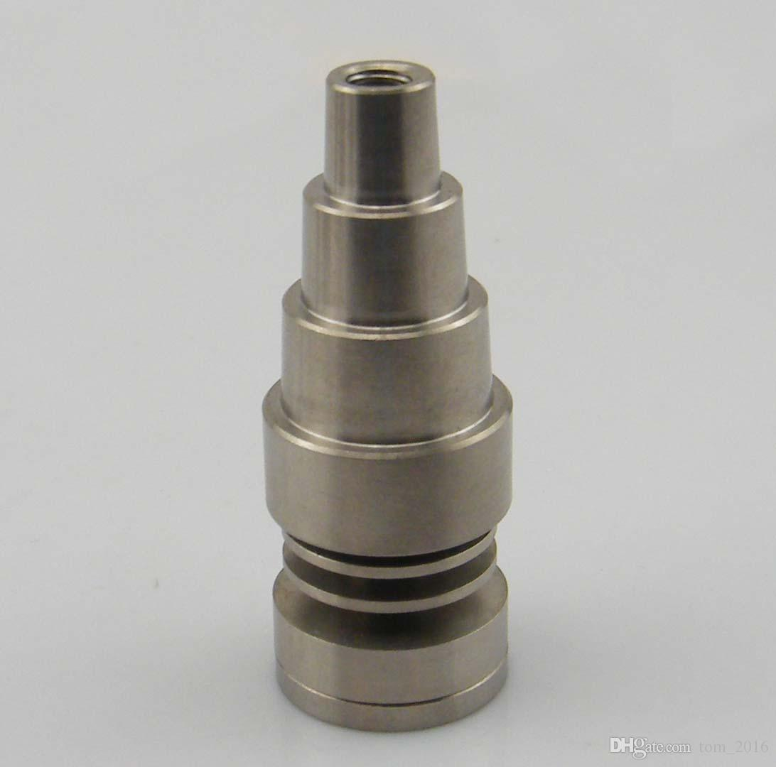 DHL Titanium Nail 10mm&14mm&19mm 6 IN 1 domeless titanium nail, with male and female joint,Fast Shipping