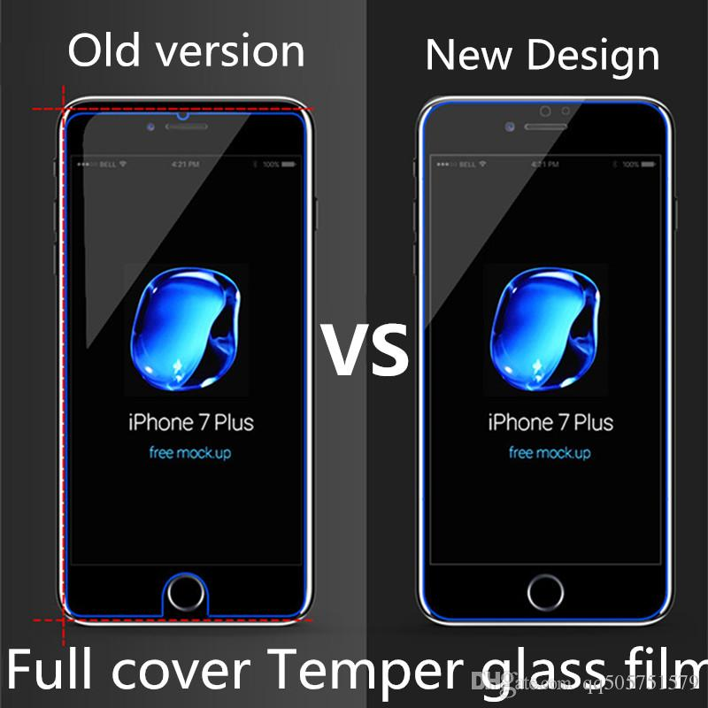 For iPhone 7 Plus White Full Cover Tempered Glass 3D Curved
