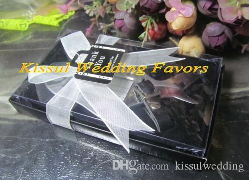 Special Little Wedding Favors of Airplane Luggage Tag in black and white gift box For Travel Themed wedding Gift and Party Favors
