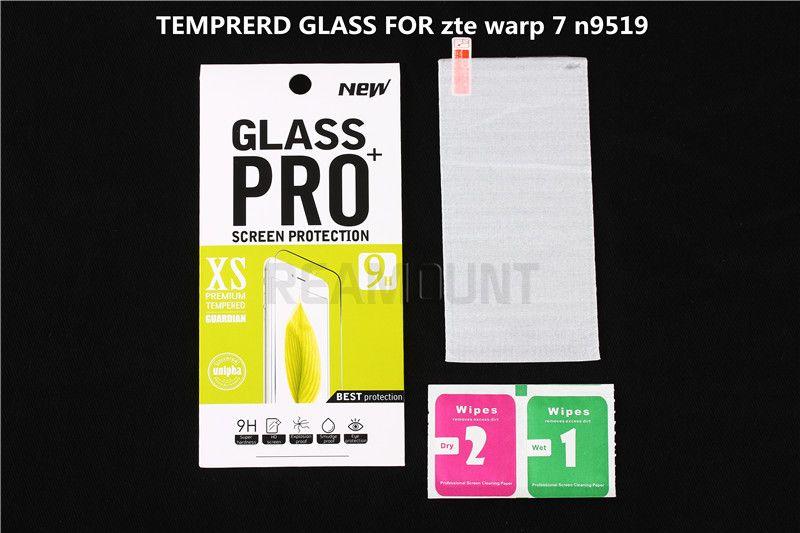 150 pz a prova di esplosione 0.3mm 9 H vetro temperato protezione dello schermo di pellicola ZTE Warp 7 N9519 confezione di vendita DHL libero