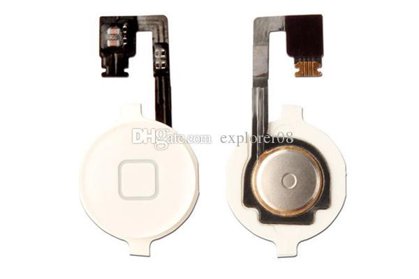 Ev Menü Düğmesi Anahtar Kap Flex Kablo Braketi Tutucu Set Meclisi için iPhone 4 4G 4 S CDMA Siyah Beyaz Yedek parça 2 Adet / grup