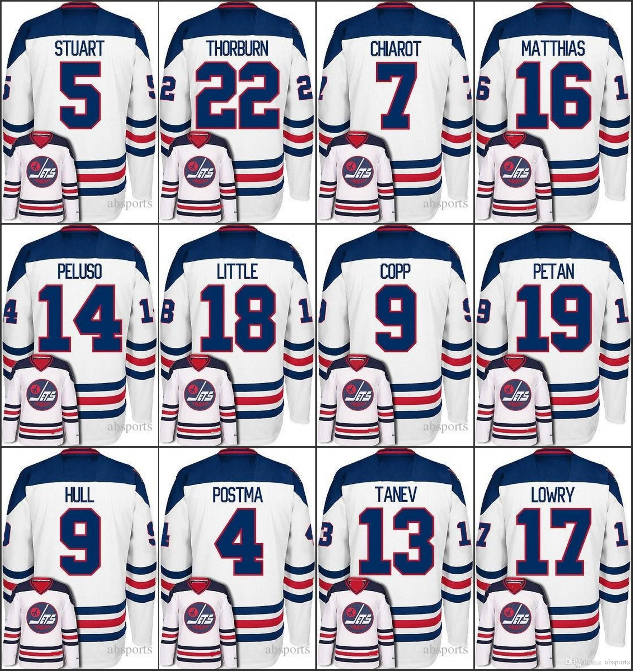 ed1b40af5b4 ... NHL Winnipeg Jets Mens White Jersey 4 Paul Postma 5 Mark Stuart 7 Ben  Chiarot 9 Bobby .