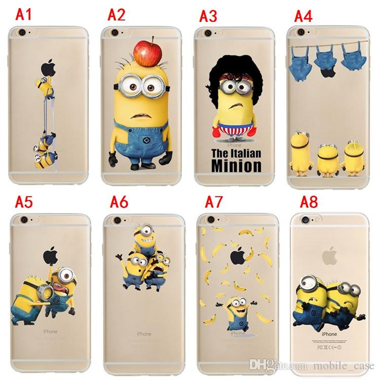 b76d1d3b6953 For Iphone X 8 8 Plus Despicable Me Minions Cartoon Ultra Thin ...