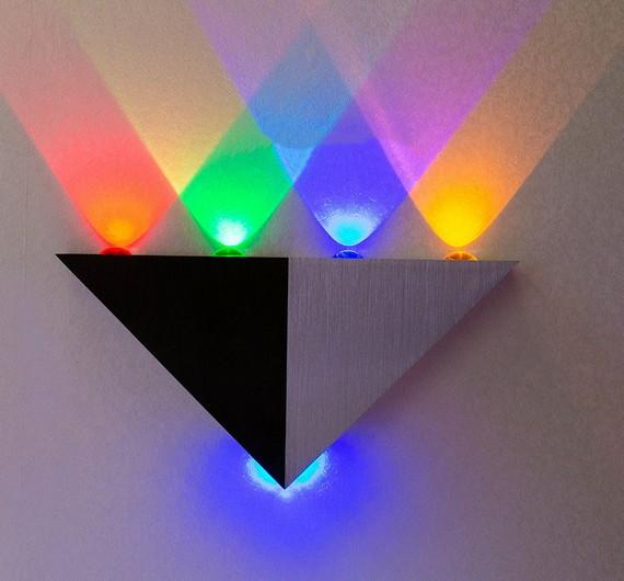 5W Triangle LED wall light Sconces Mirror lamp Backlight Decorative llight LED Corridor light Epistar energy saving LED lamp bar