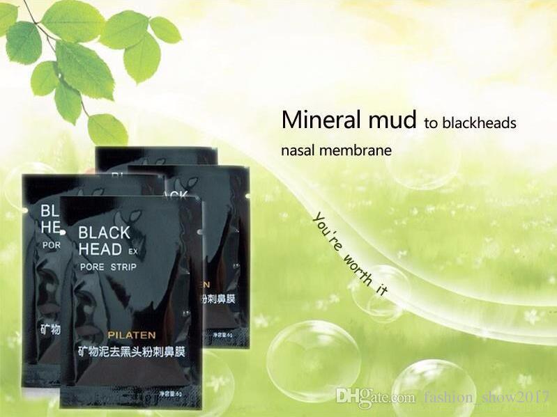 Pilaten Facial Black Mask Soins du visage Nez Acné Dissolvant comédons Minéraux Nettoyant pores Masque Peaux noires maquiagem