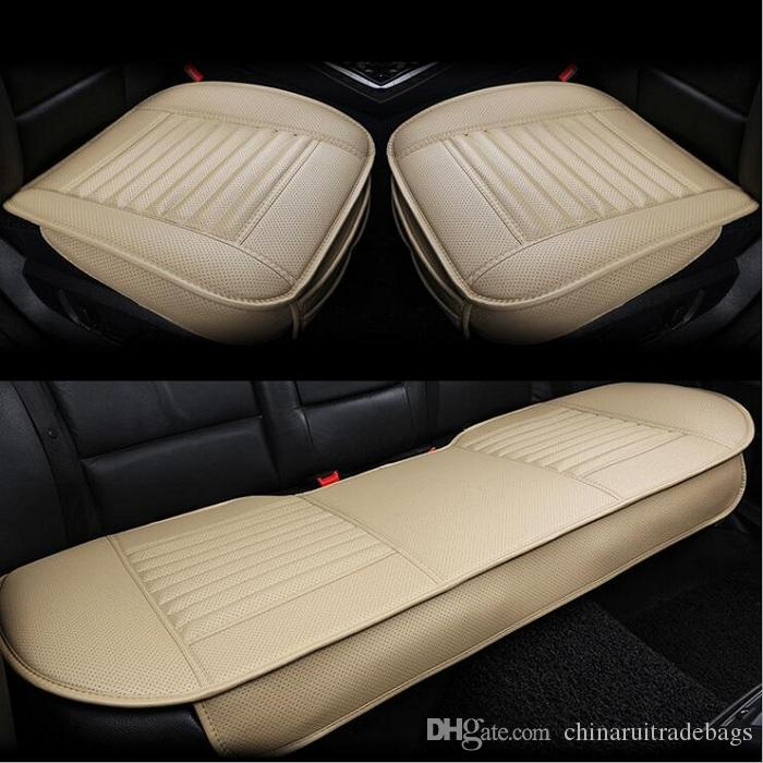 Car Front/back Seat Covers Bamboo Charcoal Artificial PU Leather Universal  Fit SUV Sedans Car Travel Bed Seat Car Seat Cover Online With $42.38/Piece  On ...