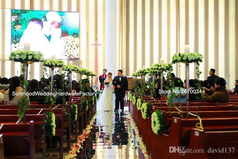 sliver mental crystalcolumn wedding centre de table, stand de passerelle de piliers mentaux, colonnes de mariage utilisé des décorations de mariage