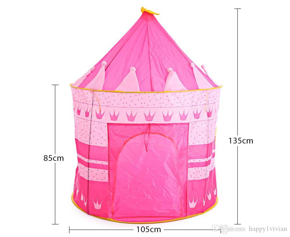 Princesa Castillo de la Princesa del Castillo Juego de Juego de Bebé Casa Grande Cubo Cubierto Plegable Al Aire Libre de Interior de Navidad Regalo de Navidad Para Niños