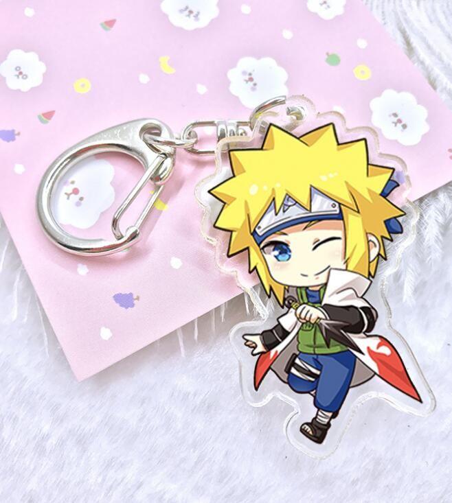 Brand new anime acrilico doppio pendente catene portachiavi Naruto Naruto Sasuke Kakashi uomo ciondolo R188 arti e mestieri mix ordine