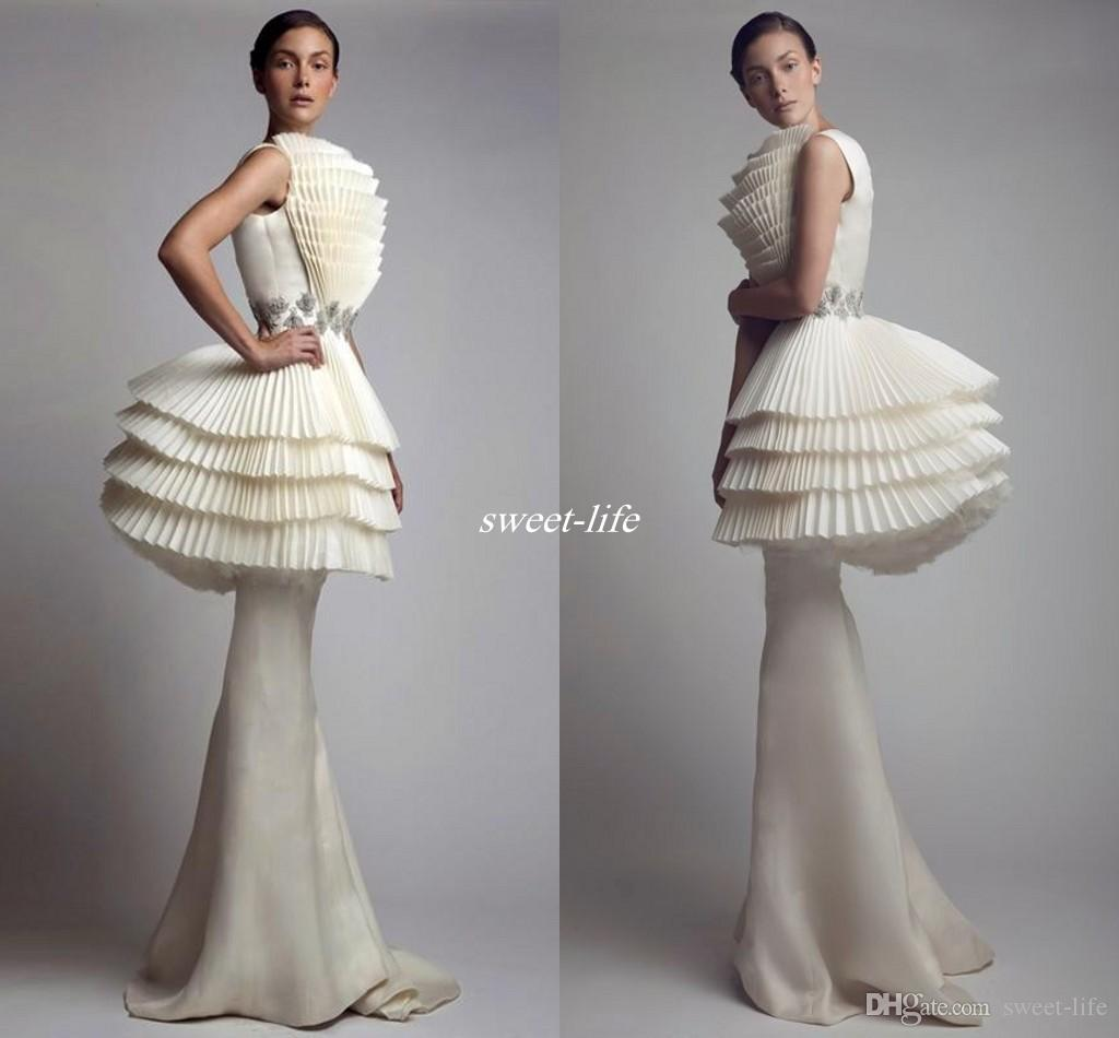 Krikor Jabotian 2020 Evening Gowns Peplum Mermaid Ruffles Satin Full Length Fashion Arabic Style Celebrity Formal Party Dresses for Pageant