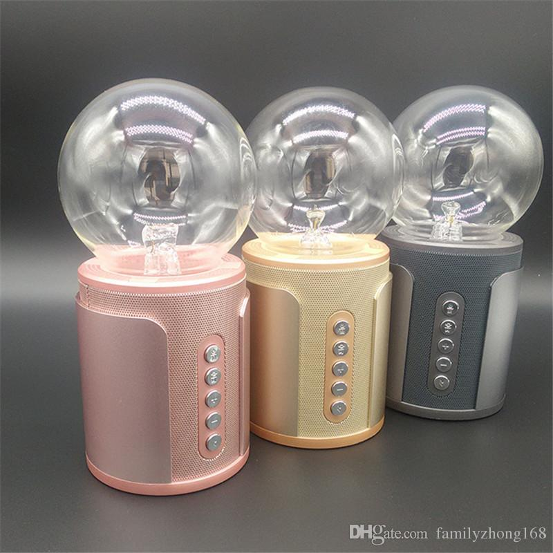 P2 magic ball nightlight touch wireless Bluetooth speaker soundcard colorful light SP2 negative ion induced current subwoofer card 6-YX