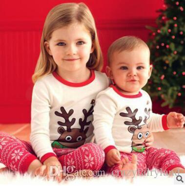 Christmas Pajamas Kids Baby Girls Christmas Outfits Sleepwear ...