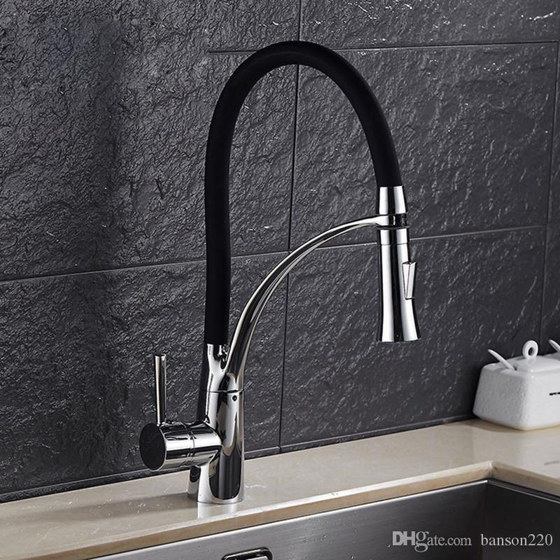 2019 Senducs Luxury Kitchen Faucet With Deck Mounted Brass Kitchen
