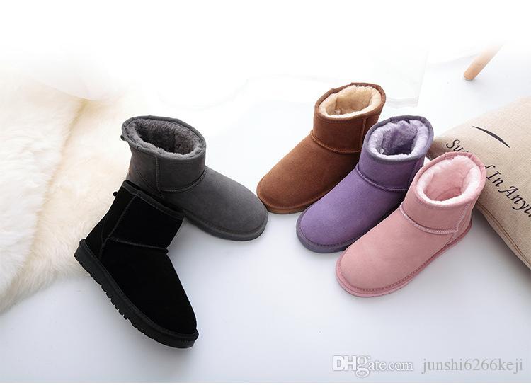 Wysokiej jakości Damskie Klasyczne Tall Botki Damskie Buty Boot Snow Boots Winter Boot Leather Boot Certificate Torba Drop Drop Shipping