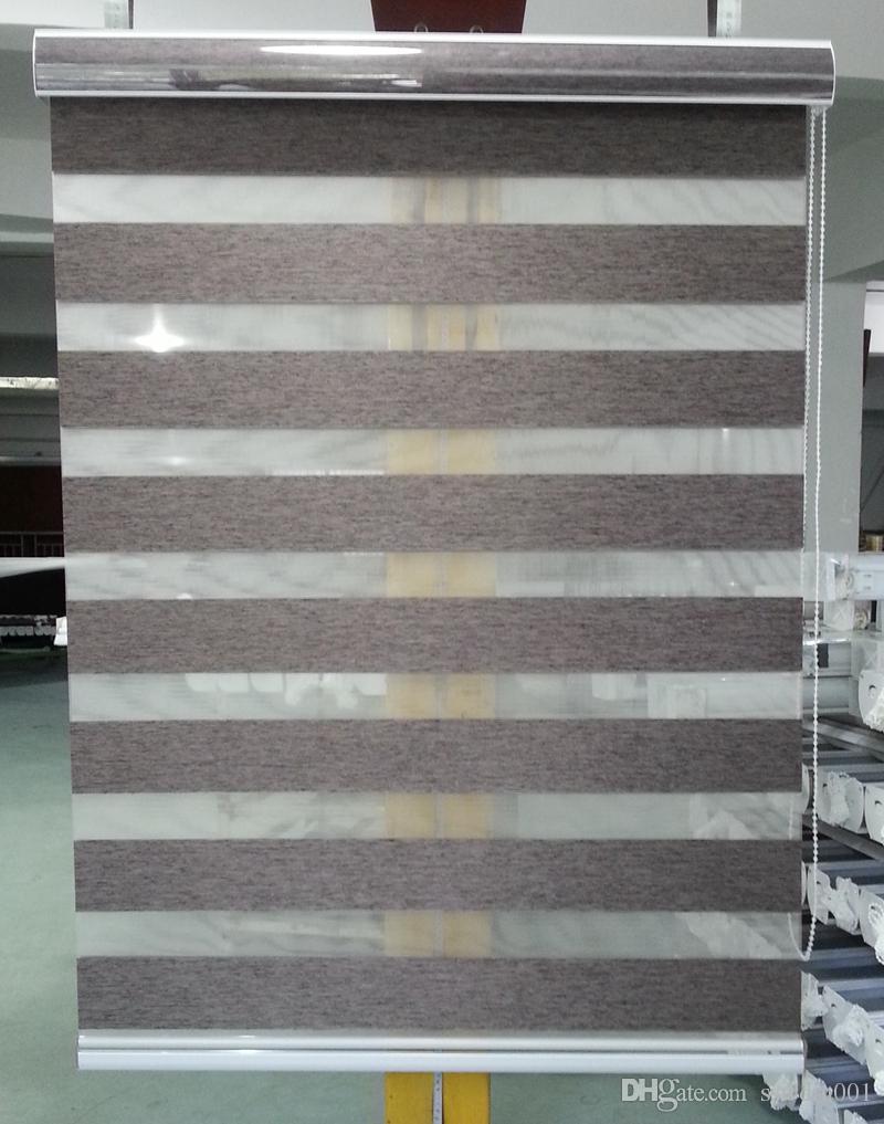 2019 Zebra Blinds Horizontal Window Shade Double Layer