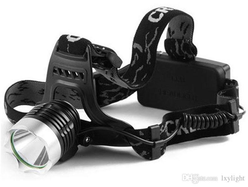 Scheinwerfer 2000Lm CREE XM-L XML T6 LED Scheinwerfer Wiederaufladbarer Scheinwerfer + 2X 3.7v 18650 Akku + AC Ladegerät