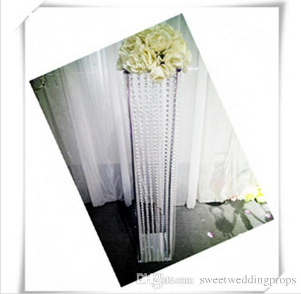 Ücretsiz gönderi 5 Adet / grup akrilik yol kurşun / squre çiçek standı / 100 cm boyunda / 20 cm çapı