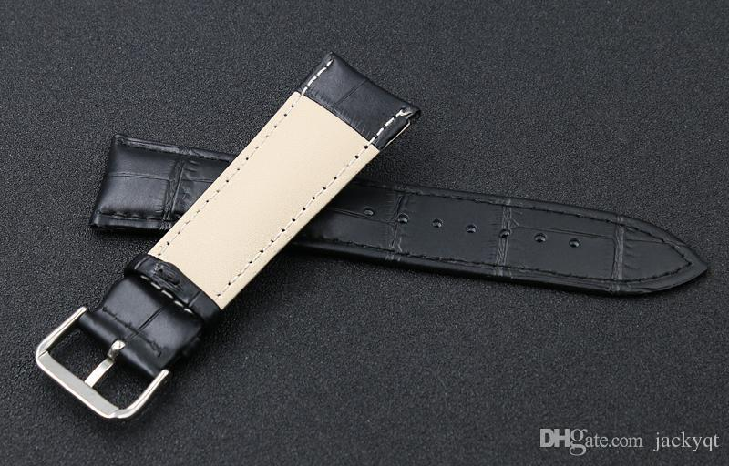 High quality Fashion Genuine leather Watch Strap 14mm 16mm 18mm 20mm 22mm Interchangeable Replacement Watch Band Black Brown Waterproof