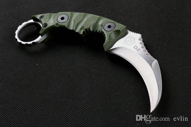 추진 스트라이더 karambit 나이프 D2 강철 고정 칼날 발톱 칼 G10 핸들 사냥은 생존 전술 칼 무료 배송 칼