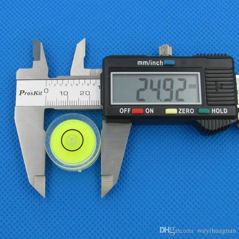 50 peças / lote 25 * 10mm Bullseye Circule Nível Universal Nível de Bolha Instrumento de Medição de Peças