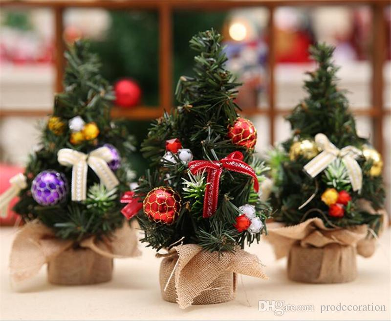 creative mini artificial christmas tree 20cm desktop xmas decorations for holiday party decor derict factory price hot sale discount christmas decorations
