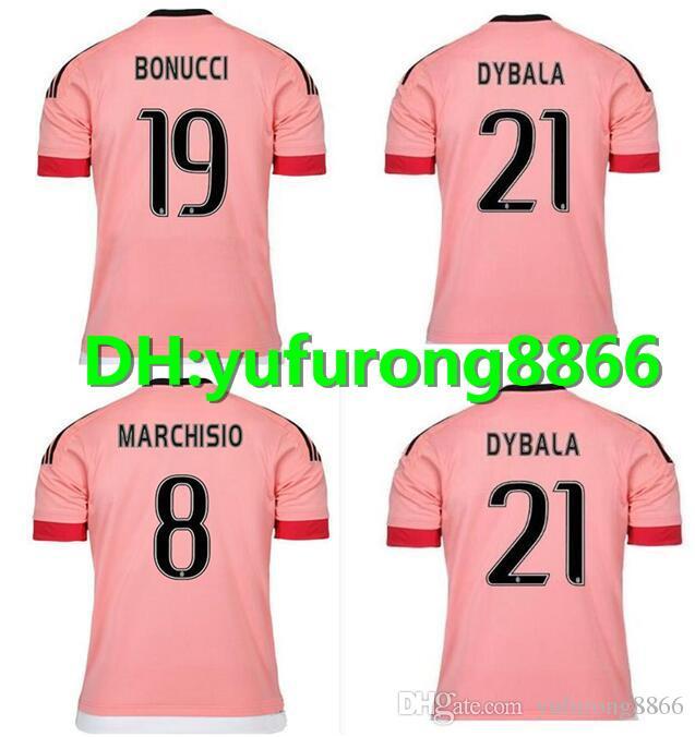 finest selection 3bb7c 5e301 2015/16 Old Pink Juv Legion jerseys RONALDO DYBALA Soccer Jerseys CHIELLINI  POGBA MARCHISIO Higuain Juventus Italia Football Shirts Kit