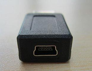 Black Wholesale USB 2.0 A type male to Mini 5pin USB B type 5pin female Connector Adapter convertorc