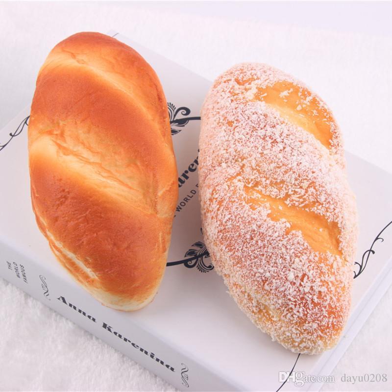 Großhandel 18cm Hohe Simulation Squishy Kokosnuss Lange Brot Squishy ...