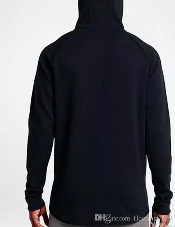 2017 Нового осень зима Большого размера MEN'S HOODIE СПОРТИВНОЙ TECH РУНО WINDRUNNEOR мода досуг спортивной куртка работает фитнес пальто куртки